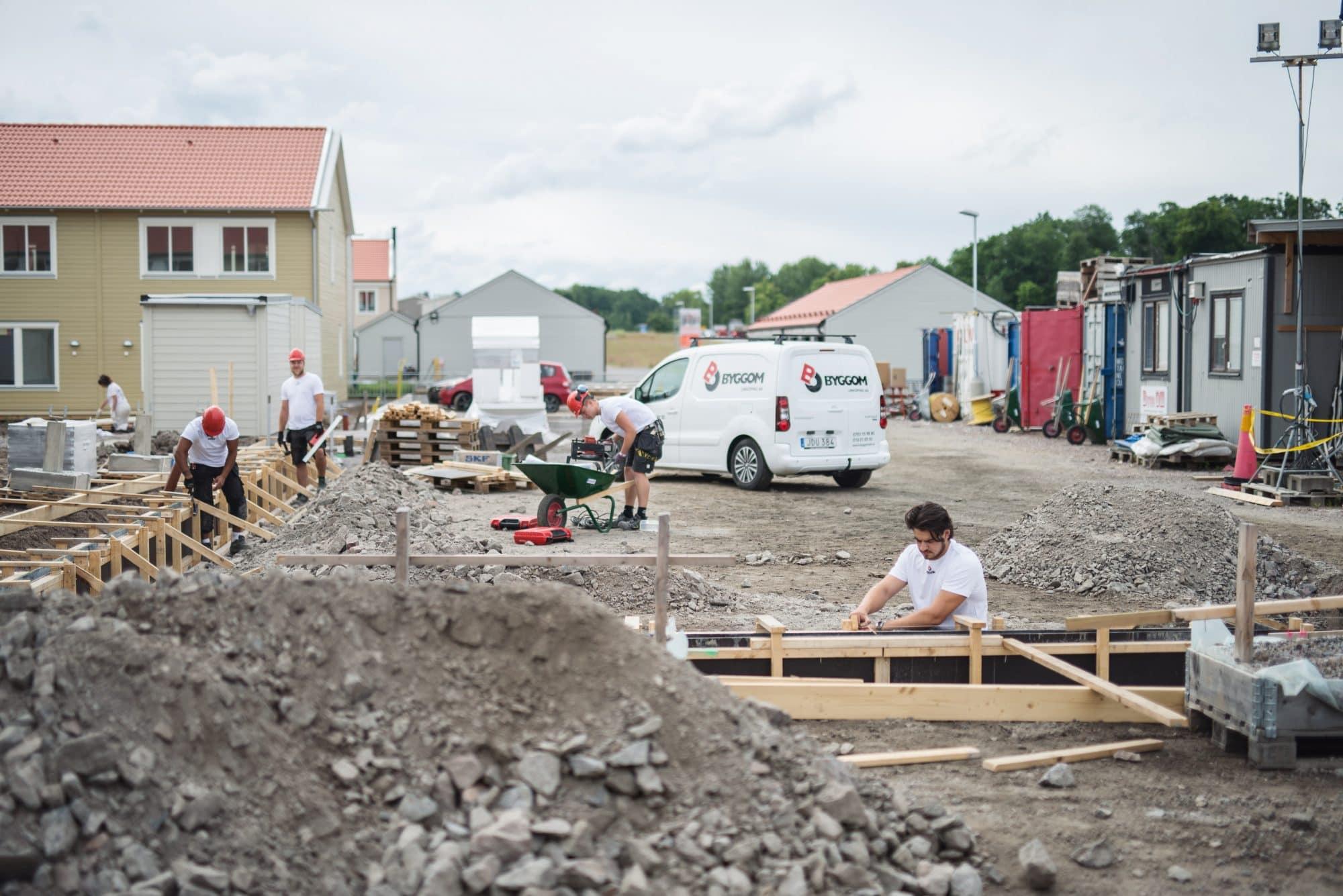 Byggplats för Bygg Om Linköping